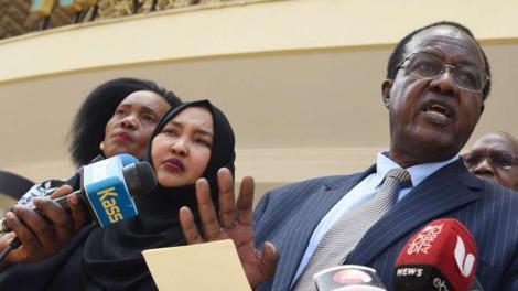 The late Kiambaa MP Paul Koinange during a past media breifing