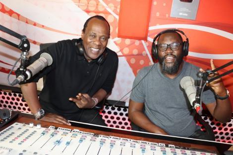 Nick Odhiambo and Jeff Koinange in Hot 96 Radio