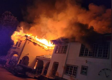 Mutahi Ngunyi's Runda mansion on fire