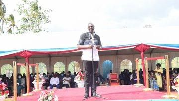 Deputy President William Ruto Speaking at a Burial in Chonyi, Kilifi County on July 17, 2021.