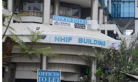 National Health and Insurance Fund (NHIF) Offices Building in Nairobi. Monday, November 18, 2019.