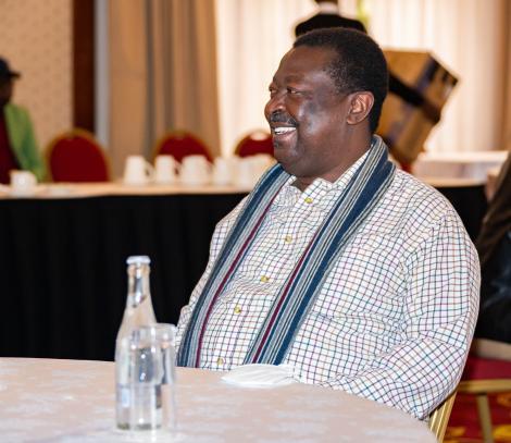 ANC Party Leader Musalia Mudavadi during One Kenya Alliance meeting at Hermosa Gardens in Karen on Tuesday, July 20, 2021.