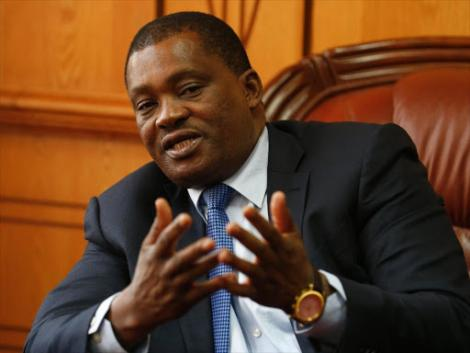 National Assembly Speaker Justin Muturi during a past media briefing at his Parliament buildings office.