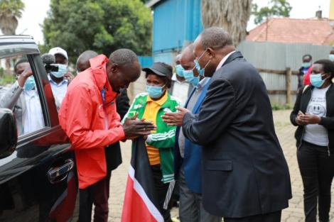 Ferguson Rotich Together with Kericho Governor Paul Chepkwony on Wednesday August 11