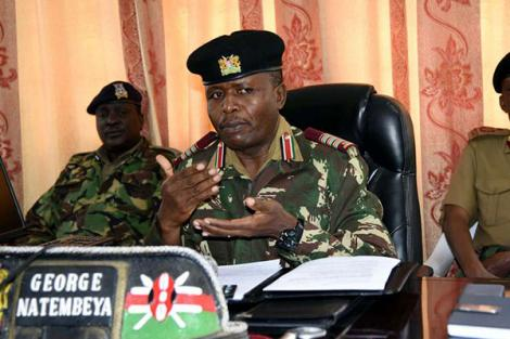 Rift Valley Regional Commissioner George Natembeya addresses the press in his office on July 16, 2018.