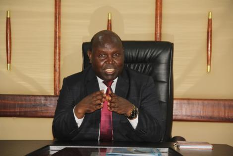 Mining and Petroleum Chief Administrative Secretary (CAS) John Musonik in his office.