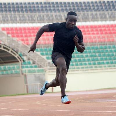 Ferdinand Omanyala during a sprinting session.