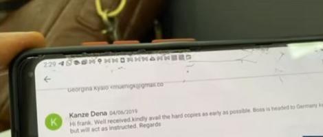 A Sample of a Message the Conmen Sent a Victim Posing as Kanze Dena.