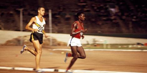 Kenyan athlete Naftali Temu (right) during a past event