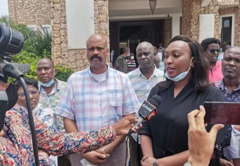 Nairobi DG Ann Kananu speaking in Mombasa on January 29, 2021.