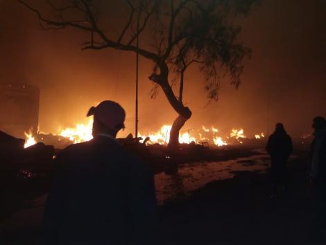 Scenes following the Gikomba Market fire. June 25, 2020.