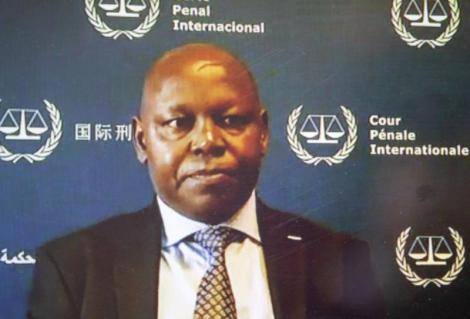 Lawyer Paul Gicheru when he appeared before the ICC via video-link from the ICC Detention Centre on November 6, 2020