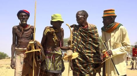 A file image of pastoralists in Turkana County.