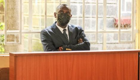 Undated Photo of Collins Kibet Appearing in Court