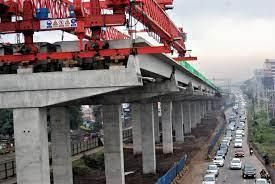 Ongoing construction of the Nairobi Expressway