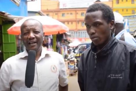 Ian Gitau,(r) the University Student Who Left His Bag in Basilio Kimani's Matatu During an Interview.