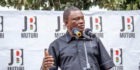 Speaker Justin Muturi meeting with Mt Kenya East leaders on Friday, September 10, 2021.