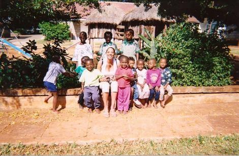 Allison Payne visiting an orphanage during her time in Kenya.