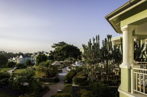 The view from inside the Hemmingways hotel, Nairobi