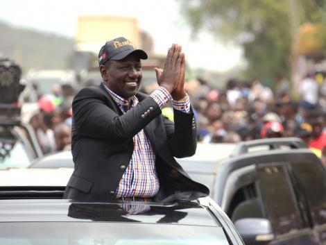 DP Ruto holding a campaign in Embu