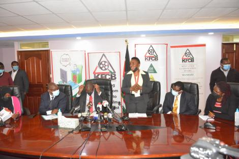 KFCB board members during a press briefing on Thursday, September 23,2021
