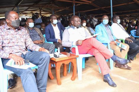 DP William Ruto and Governor Okoth Obado in Migori on Saturday, September 25, 2021.