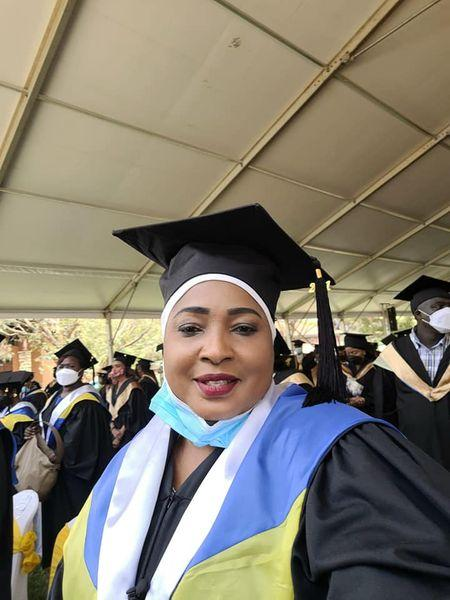 Likoni Member of Parliament Mishi Mboko at her graduation on Saturday, September 25.