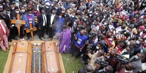 The final rites of two Kianjokoma brothers on Friday, August 13.