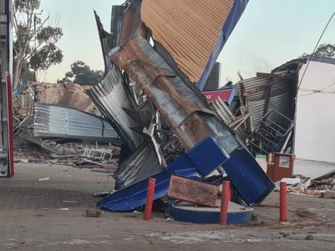 Wreckage left after Kenya Railways demolitions