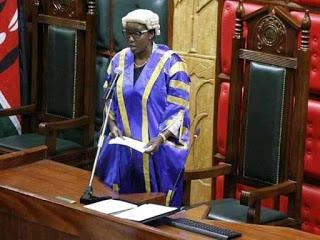 Beatrice Elachi during a session in the Nairobi County Assembly in 2018.