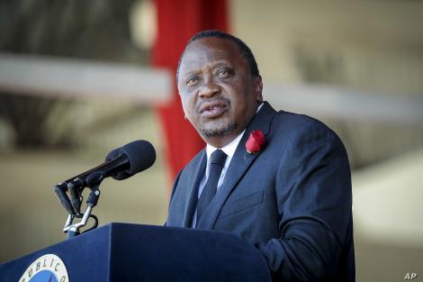 President of the republic of Kenya, Uhuru Kenyatta