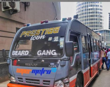A Super Metro bus at the Nairobi CBD Terminus