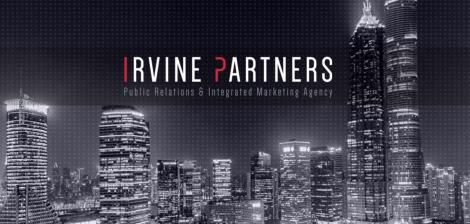 A poster of Irvine Partners Public Relations & Integrated Marketing Agency website