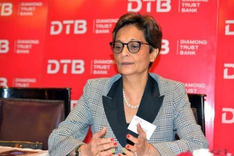 Diamond Trust Bank (DTB) CEO Nasim Devji during the lender's Annual General Meeting (AGM) at Laico Regency Hotel