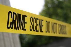 Undated image of a crime scene
