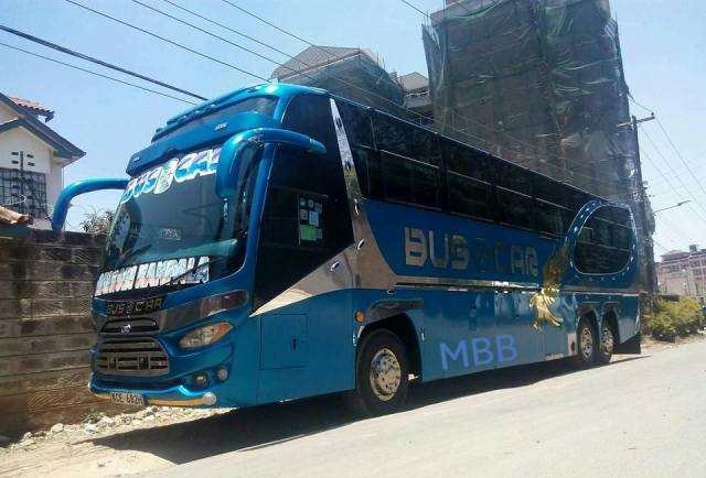 Traveling by bus in East Africa -