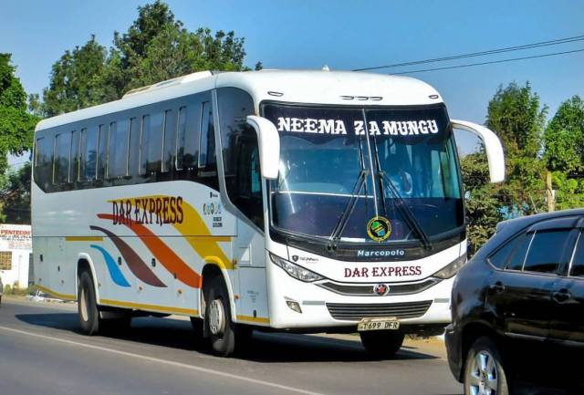 Traveling by bus in East Africa - Dar Express
