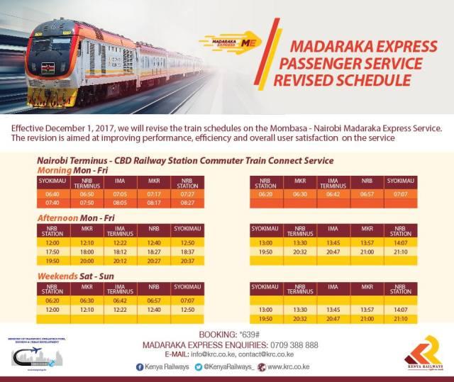 Express - SGR Link Train (Nairobi commuter train) from Nairobi to Syokimau