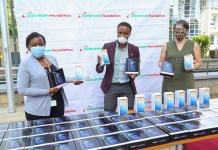 Safaricom Foundation Donates Tablets To Students in Kawangware and Dandora