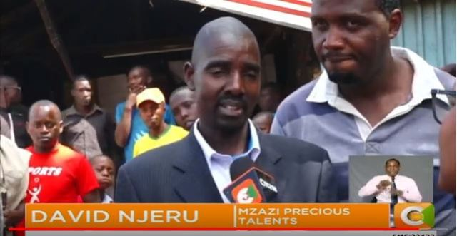 David Njeru, one of the parents who lost his child at Precious Talents school in Nairobi