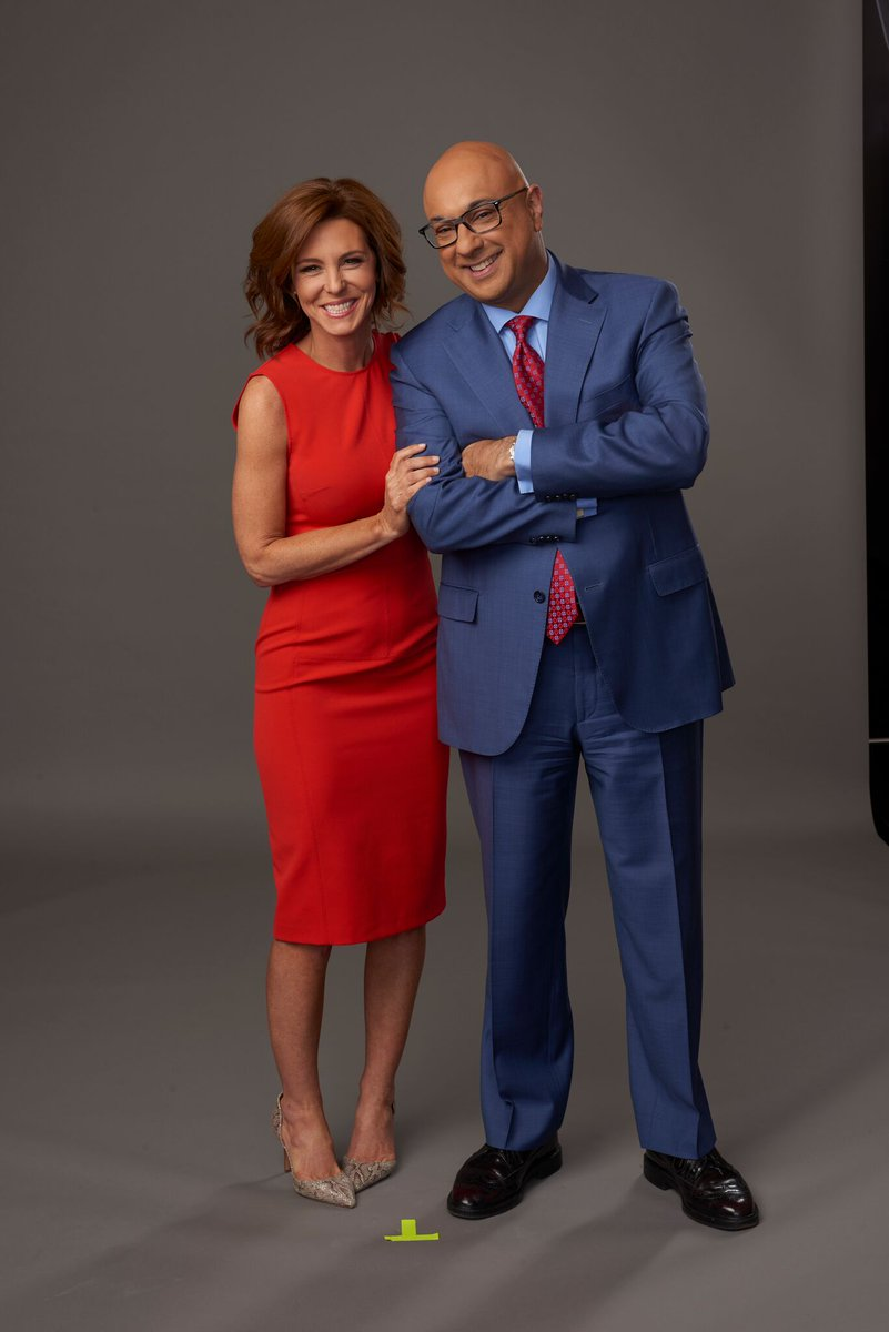 News anchor Ali Veshli and his co-host Stephanie Ruhle.