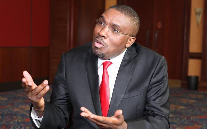 Former Mukurweini MP Kabando wa Kabando appearing on Point Blank on Wednesday, October 16, where he urged Uhuru to tell off his detractors without fear.