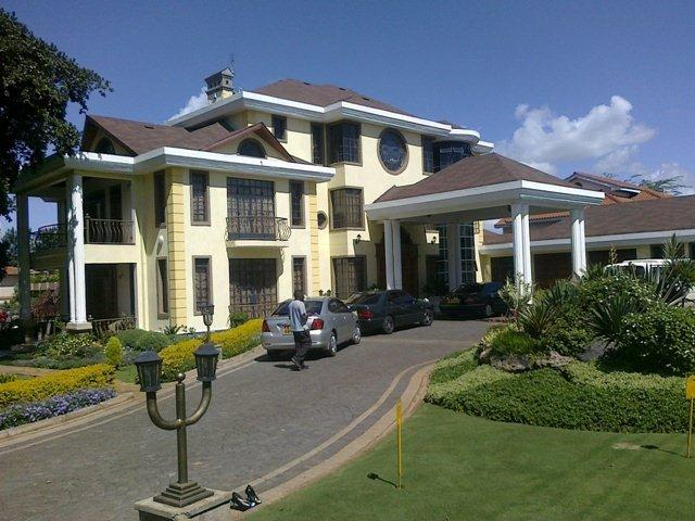 A photo showing the mansion perched somewhere in Runda, Nairobi.