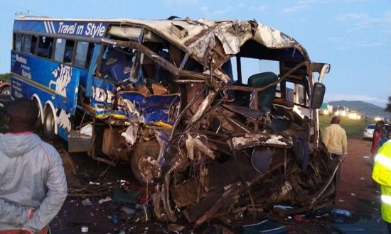 Two Modern Coast buses collided leaving scores injured and others dead on December 12, 2019