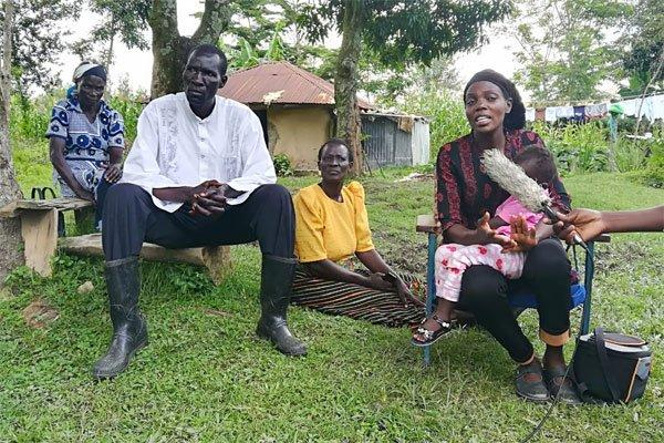 Lucy Atieno, the wife to deceased The Star journalist Eric Oloo who was found dead inside a police officers house in Siaya on Thursday, November 21, 2019