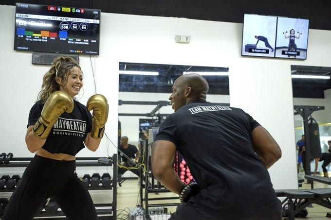 Inside a Mayweather Boxing + Fitness gym in the United States