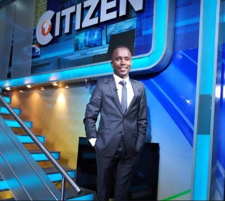 Kimani Mbugua at Citizen TV studios in 2019
