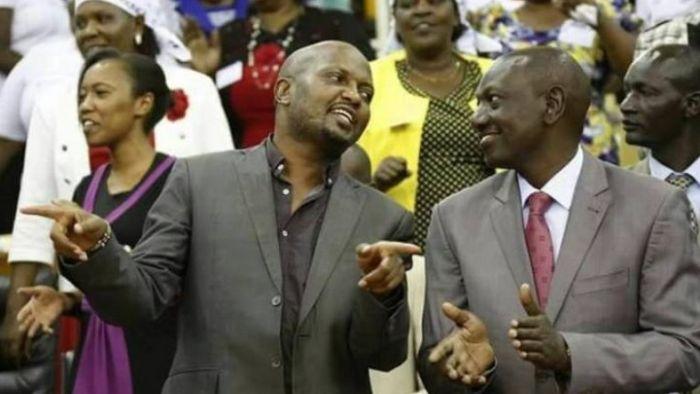 DP William Ruto with Moses Kuria at Kasarani Stadium on June 16, 2019