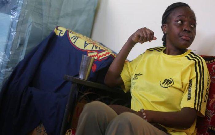 Ugunja police station deputy OCS Sabina Kerubo after she was arrested in connection with the murder of Siaya based Star Journalist Erick Oloo on November 20, 2019.