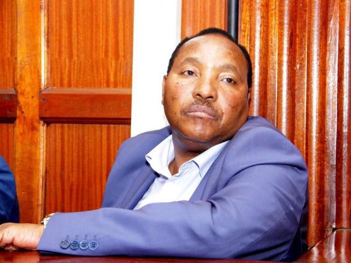 Ferdinand Waititu in the dock at a Milimani anti-corruption court in 2019. On Friday, November 22, 2019, his deputy James Nyoro threatened to resign if Waititu was allowed to resume office